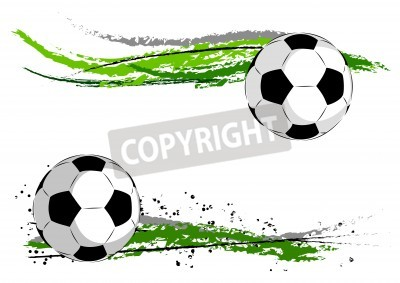 Papiers peints Football on the green abstract
