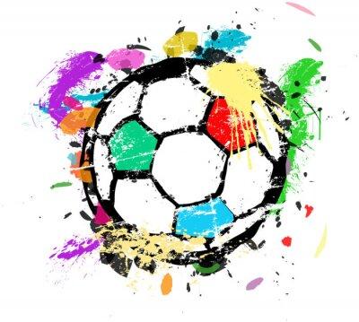 Papiers peints Football, ou, football, vecteur, Illustration, multicoloured, peinture, splas