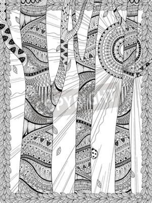 Papiers peints Forêt mystérieuse pour colorier en ligne exquise