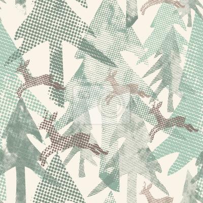 Papiers peints Forêt pointillée