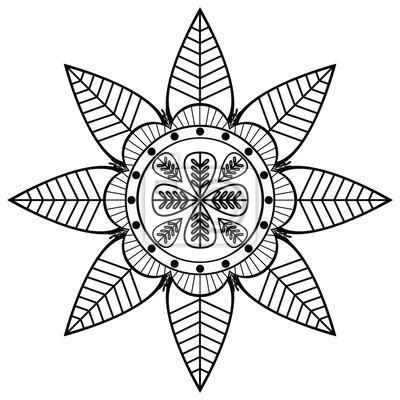 forme de fleur avec 8 feuilles inspiré par la culture indienne