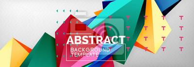Papiers peints Forme géométrique 3D, fond géométrique, composition abstraite moderne triangulaire