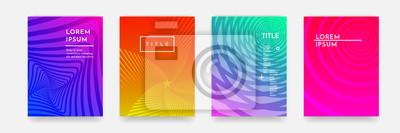 Papiers peints Forme géométrique abstraite de gradient de couleur pour le modèle de couverture de livre ensemble de vecteur