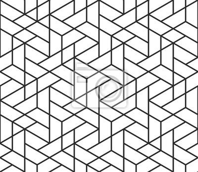 Forme géométrique abstraite, motif, cube, lignes, fond, texture