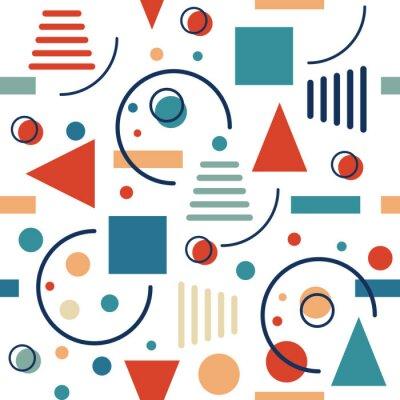 Papiers peints Forme géométrique transparente. Circles, triangles et lignes. Vector design rétro.