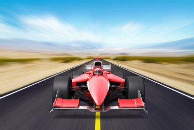Papiers peints Formula race red car