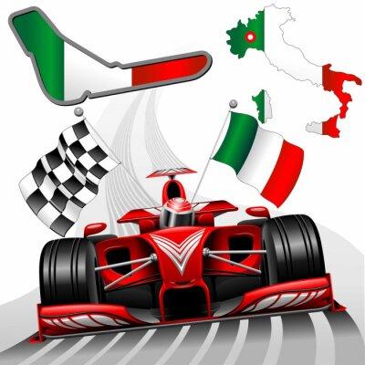 Papiers peints Formule 1 Red Race Car GP Monza Italie