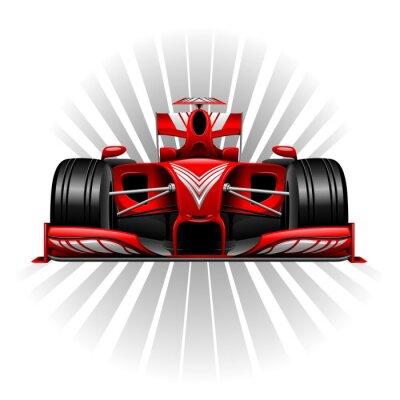 Papiers peints Formule 1 Voiture de course rouge