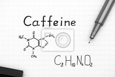c07ef29f8cec Formule chimique de la caféine avec stylo noir papier peint ...