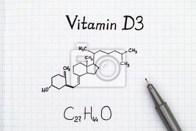 02617608e357 Formule chimique de la vitamine d3 avec stylo. papier peint ...