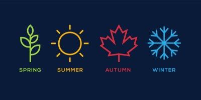 Papiers peints four season logo winter spring autumn summer vector illustration