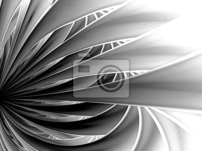 Fractale noir et blanc. fond dart fractal pour un design créatif