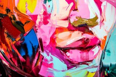 Papiers peints fragment from painted canvas texture