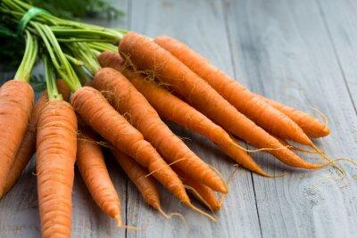 Papiers peints Frais, carottes, tas, bois, fond