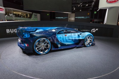 Papiers peints Francfort, Deutschland - 15 septembre 2015: Bugatti Vision Gran Turismo Concept présenté lors du 66e Salon International de la Messe Frankfurt