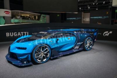 Papiers peints FRANKFURT, ALLEMAGNE - 16 SEPTEMBRE 2015: Spectacle automobile international de Francfort (IAA) 2015. Bugatti Vision Gran Turismo - première mondiale.