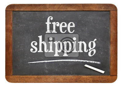 Papiers peints free shipping text on blackboard