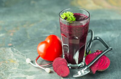Fresh and healthy beetroot  juice,  good for the hart and blood pressure