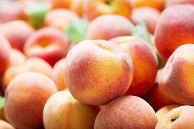 fresh peaches as background