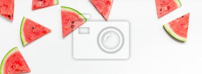 Papiers peints Fresh watermelon slices pattern