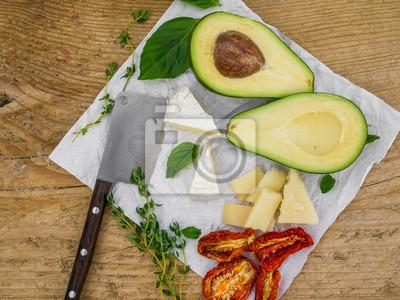 Fromage et ensemble vegtable