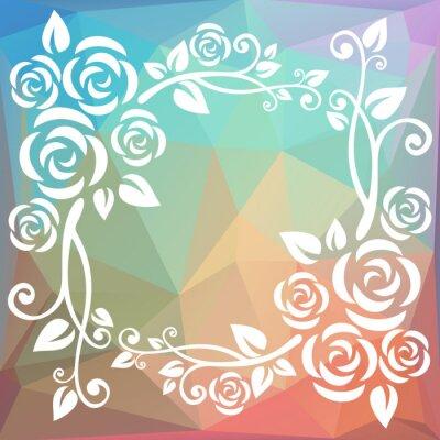 Papiers peints Frontière polygonale abstraite