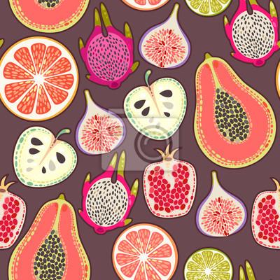Papiers peints Fruits exotiques Seamless
