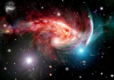Papiers peints Galaxie dans un espace libre