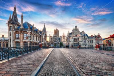Papiers peints Gand, Belgique au jour, vieille ville de Gand