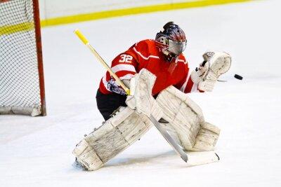 Papiers peints Gardien de but de hockey en équipement générique rouge protège porte