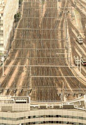 Papiers peints Gare de Paris, France. Vue aérienne