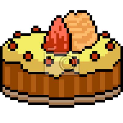 Papiers Peints Gâteau De Pixel Art Vecteur