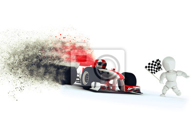 Generic racing car with speed effect