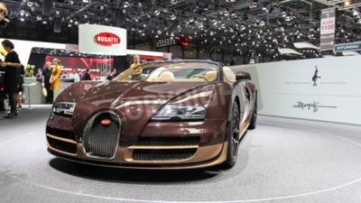 Papiers peints Genève, Suisse - 2 Mars, 2014: 2 014 Bugatti Veyron Rembrandt Bugatti présenté sur le 84e Salon de Genève internationale