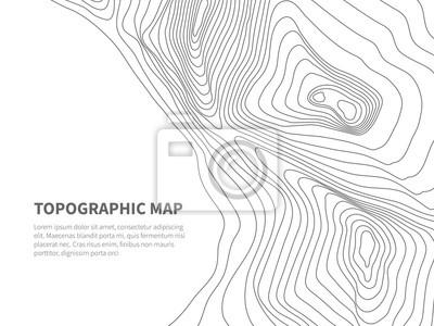Papiers peints Géodésie contourant la terre. Carte topographique Contours de montagne géographique vector background