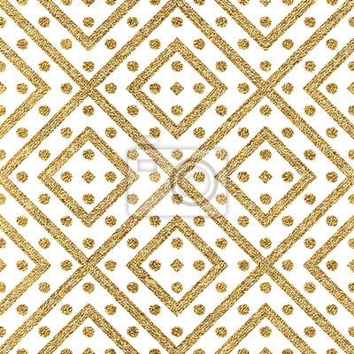 Geometrique Seamless Modele Or Diagonal Lignes Cercle Papier