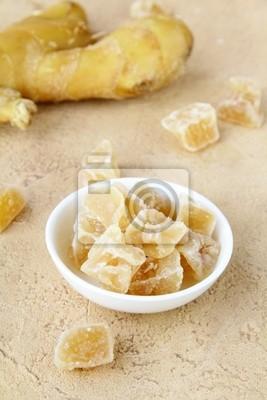 gingembre confit et gingembre frais