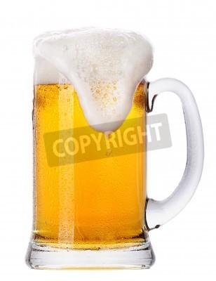 Papiers peints Glace, verre, lumière, bière, ensemble, isolé, blanc, fond