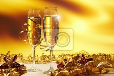 Glaces de Champagne prêtes à apporter dans la nouvelle année