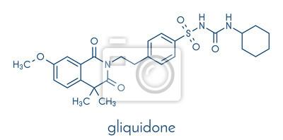 9d7dd650442c Papiers peints Gliquidone molécules de médicament pour le diabète. Formule  squelettique.