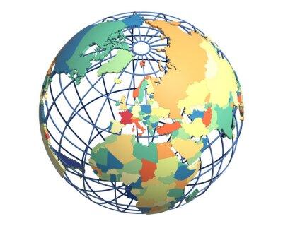 Papiers peints Globe politique, centré sur l'Europe