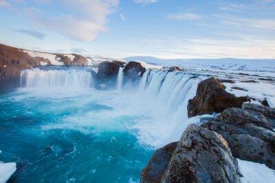 Papiers peints Godafoss, chute eau, Islande