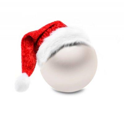 Goldene Weihnachtskugel isoliert auf Weißem Hintergrund
