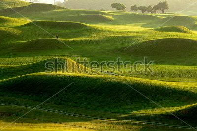 Papiers peints golf place with nice green