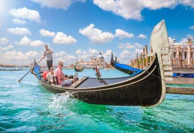 Papiers peints Gondola sur Canal Grande à Venise, Italie