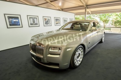 Goodwood, UK - July 1, 2012: Luxury Rolls Royce Ghost on display at the Festival of Speed motor sport event held at Goodwood, UK