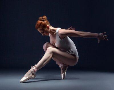 Papiers peints Graceful danse de ballerine svelte en studio