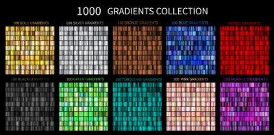 Papiers peints Gradients Vector Megaset Big collection of metallic gradients 1000 glossy colors backgrounds