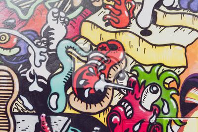 Papiers peints graffiti colorés