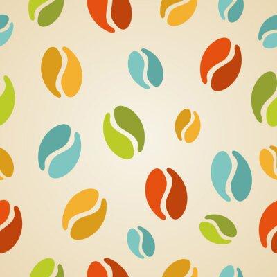 Papiers peints Grains de café colorés seamless illustration
